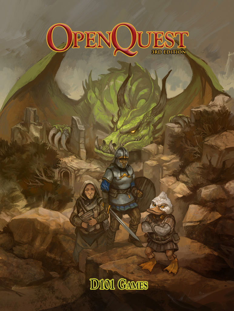 OpenQuest 3 cover by Jon Hodgson